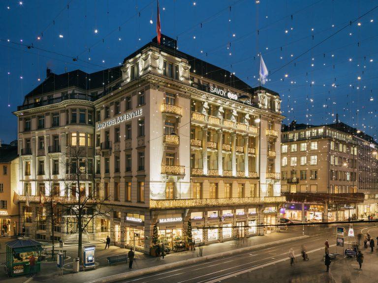 Скидки на проживание в историческом отеле Savoy 5* в Цюрихе